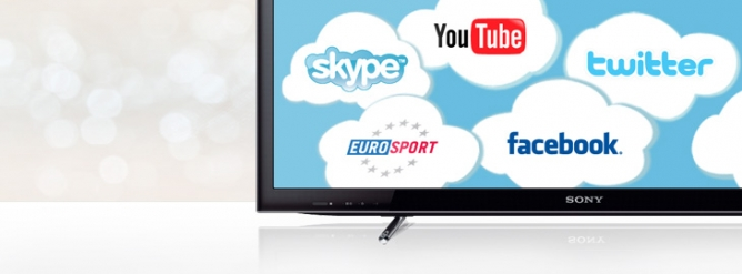 Sony internet TV smart TV LED Facebook Twitter youtube skype