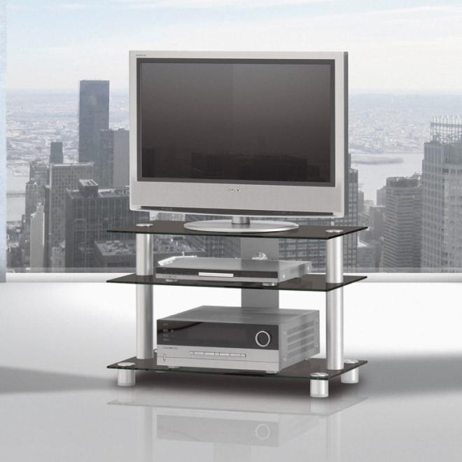 spectral just rack tv8553 black glass. Black Bedroom Furniture Sets. Home Design Ideas