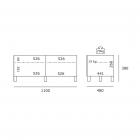 Spectral Just-Racks JRL1100 Black - TV møbel
