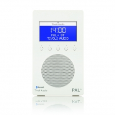 PAL+ BT Tivoli Audio bærbar radio højglans hvid