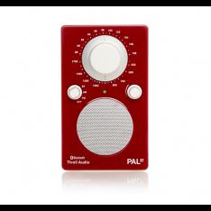 Højglans rød bærbar radio PAL BT