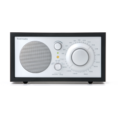 Model ONE bordradio Tivoli Audio sort ask/sølv