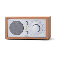 Bordradio model ONE Tivoli Audio cherry/sølv