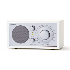 Bordradio model ONE Tivoli Audio hvid/sølv