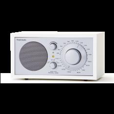 Bordradio model ONE Tivoli Audio hvid/sølv